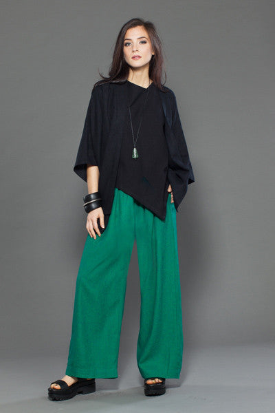 Shown w/ Palazzo Pant and Short Panel Jacket