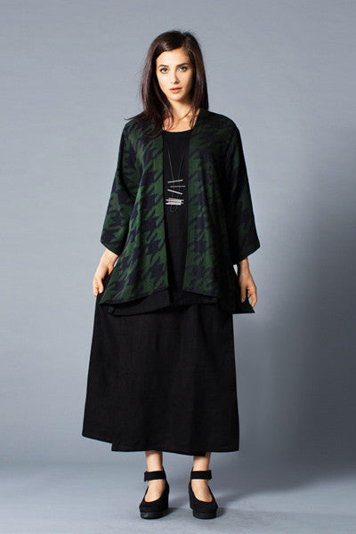 Shown w/ Short Kimono Jacket and Overlap Skirt