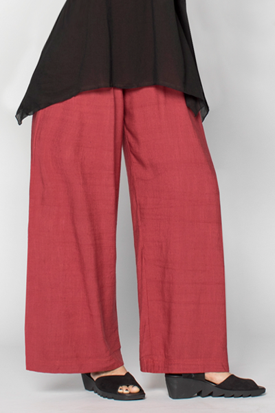 Palazzo Pant in Raspberry Papyrus