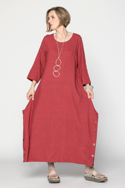 Dana Dress in Raspberry Papyrus