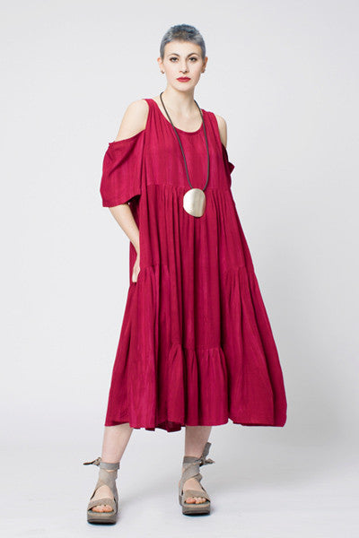 Cafone Dress in Raspberry Ink Boston