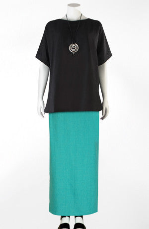 Side Split Skirt in Seabreeze Roma