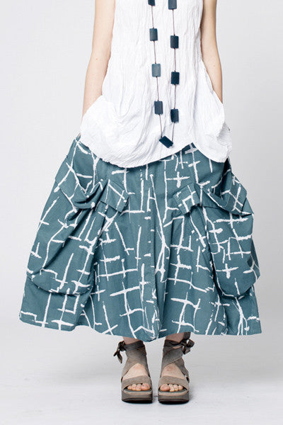 Giant Pocket Skirt in Seki Print Carnaby