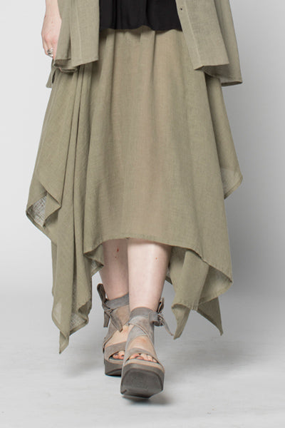 Moka Skirt in Sage Lino