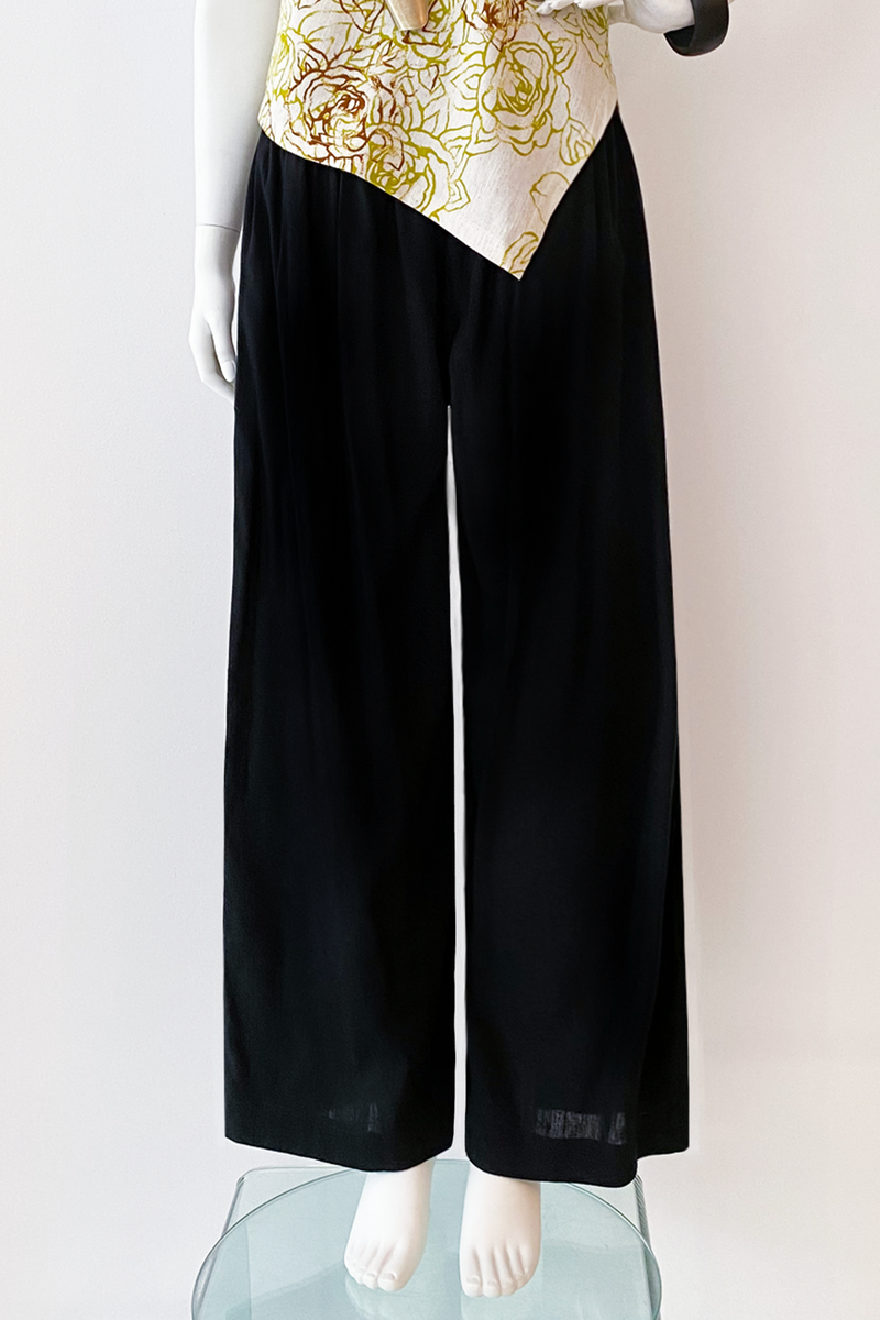 Palazzo Pant in Black Papyrus