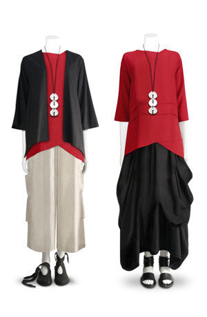 Shown w/ Short Kimono Jacket, H.P. Pant, and Odyssey Skirt
