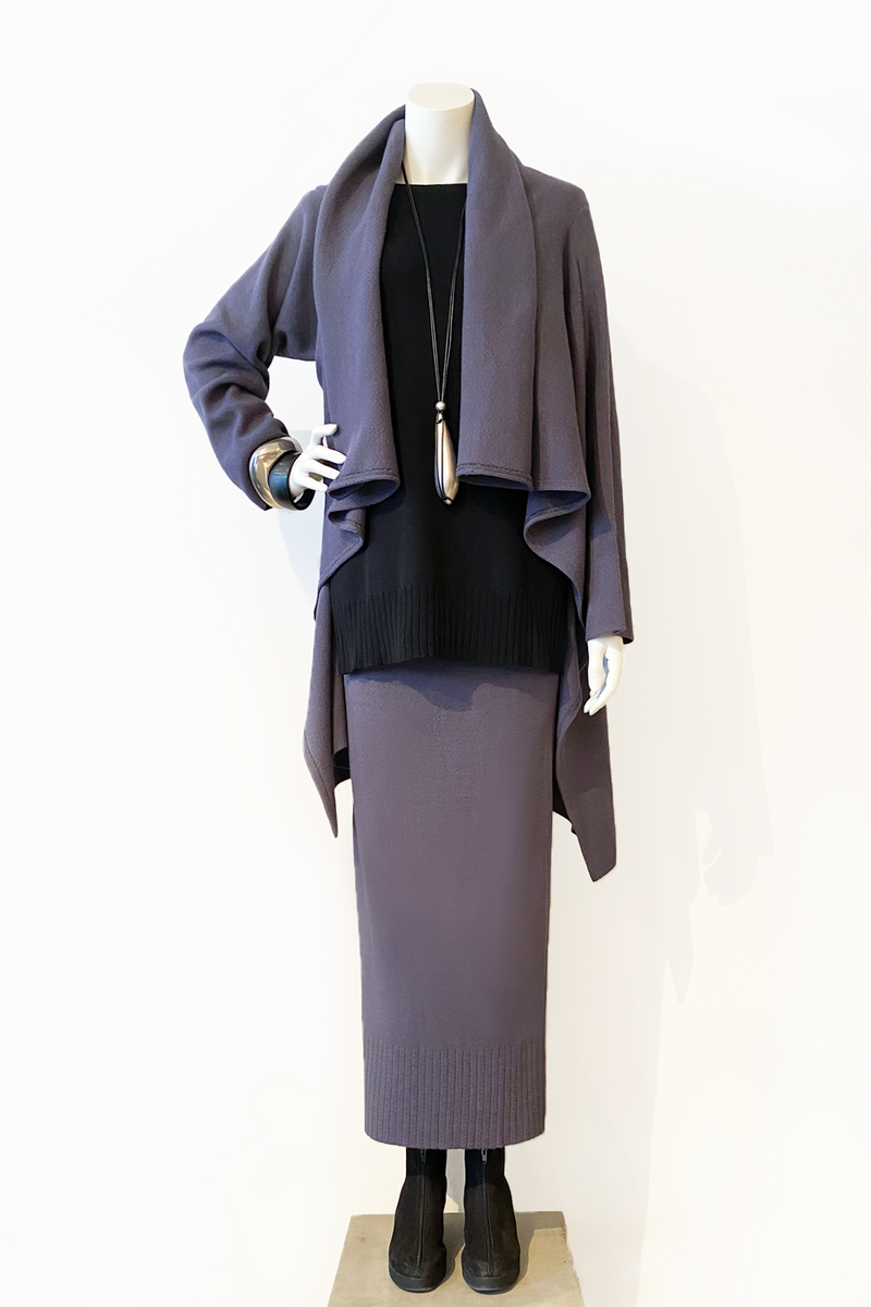 Wrap Jacket in Steel Mi-Nu
