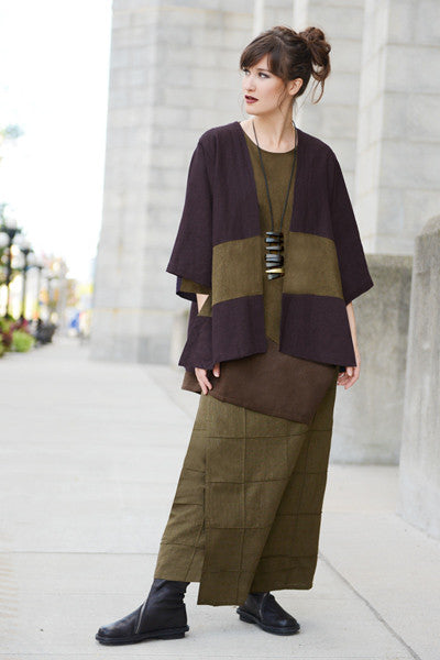 Shown w/ Quadra Overlap Skirt and Short Kimono Jacket