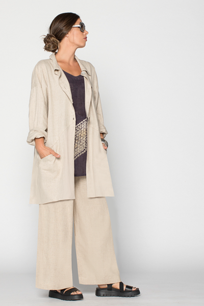 Shown w/ Back Pocket Jacket and Palazzo Pant