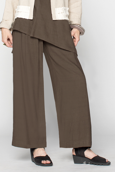 Palazzo Pant in Walnut Papyrus