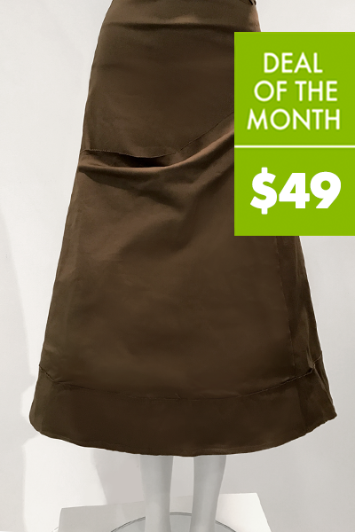 Big Pocket Skirt in Walnut Smooth