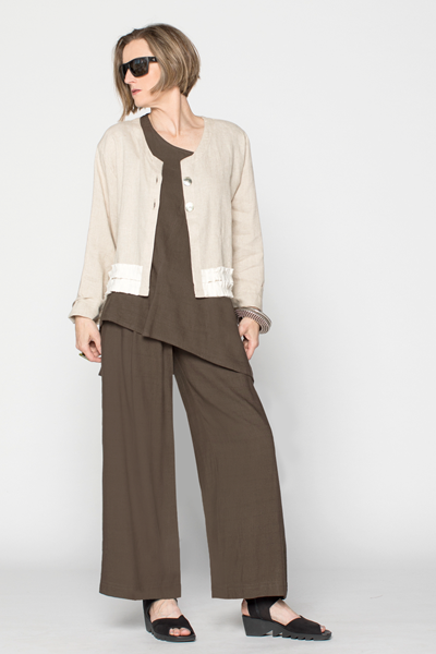 Shown w/ Ruffle Crop Jacket and Palazzo Pant