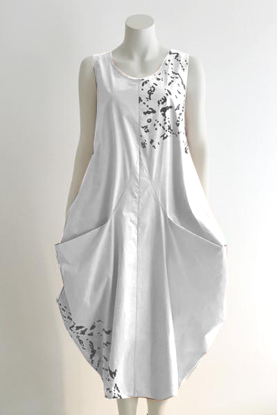 Edi Dress in White Blossom Carnaby