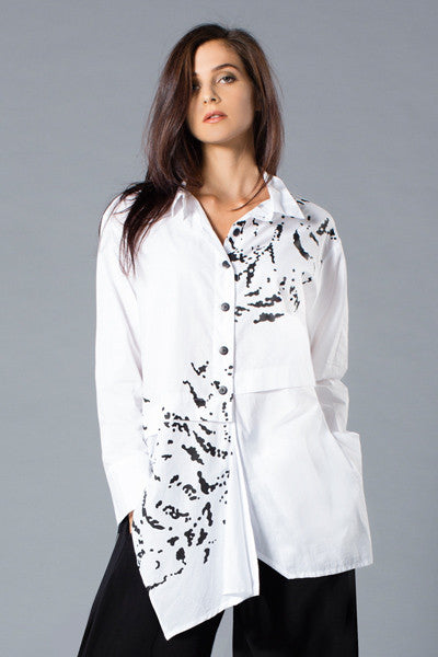 Architect Shirt in White Blossom Carnaby