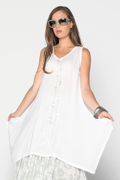 Tahiti Top in White Delphi