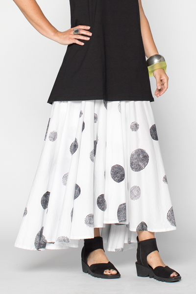 Full Circle Skirt in White Rondo Carnaby