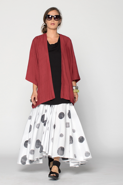 Shown w/ Twist Back Top and Short Kimono Jacket