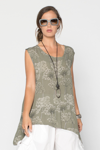 Kura Top in Wildflower Crinkle