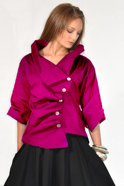 Escargot Jacket in Magenta L.A.