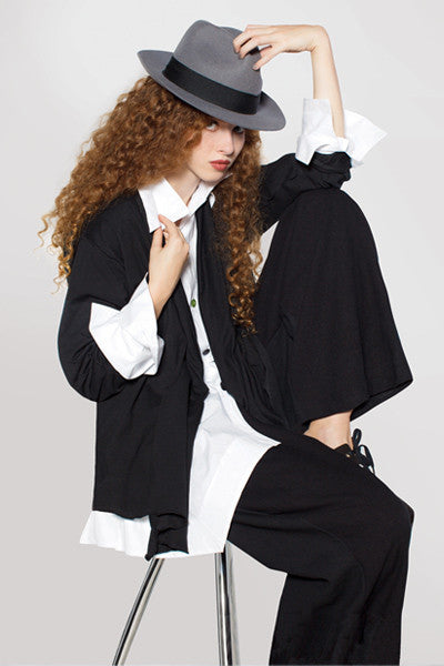 THE KALIYANA SUIT in Black Tokyo & White Carnaby