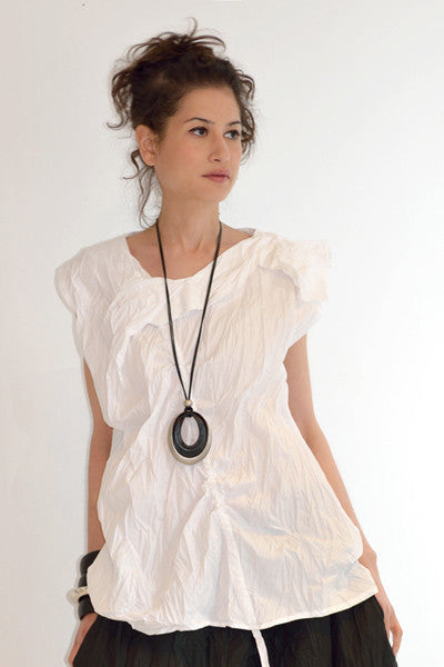 Michiko Top in White Carnaby