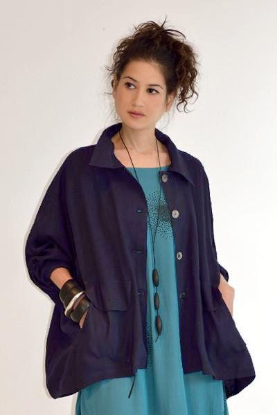 New York Jacket in Navy Roma