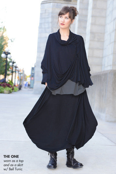 The Convertible One in Black Danube (Skirt)