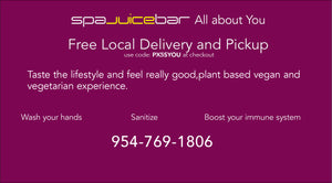 SpaJuiceBar Free Local Delivery codes PX5SYOU