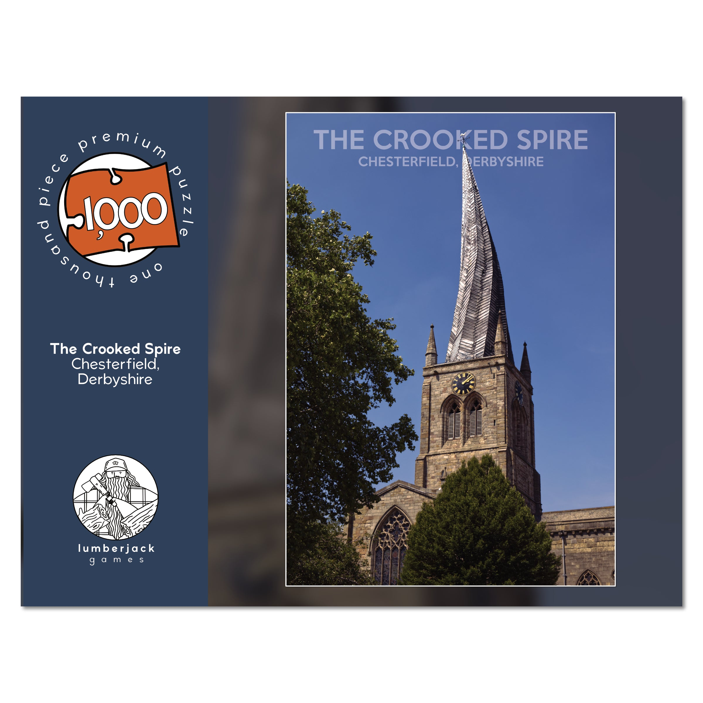 The Crooked Spire, Chesterfield - 1,000 Piece Premium Jigsaw Puzzle