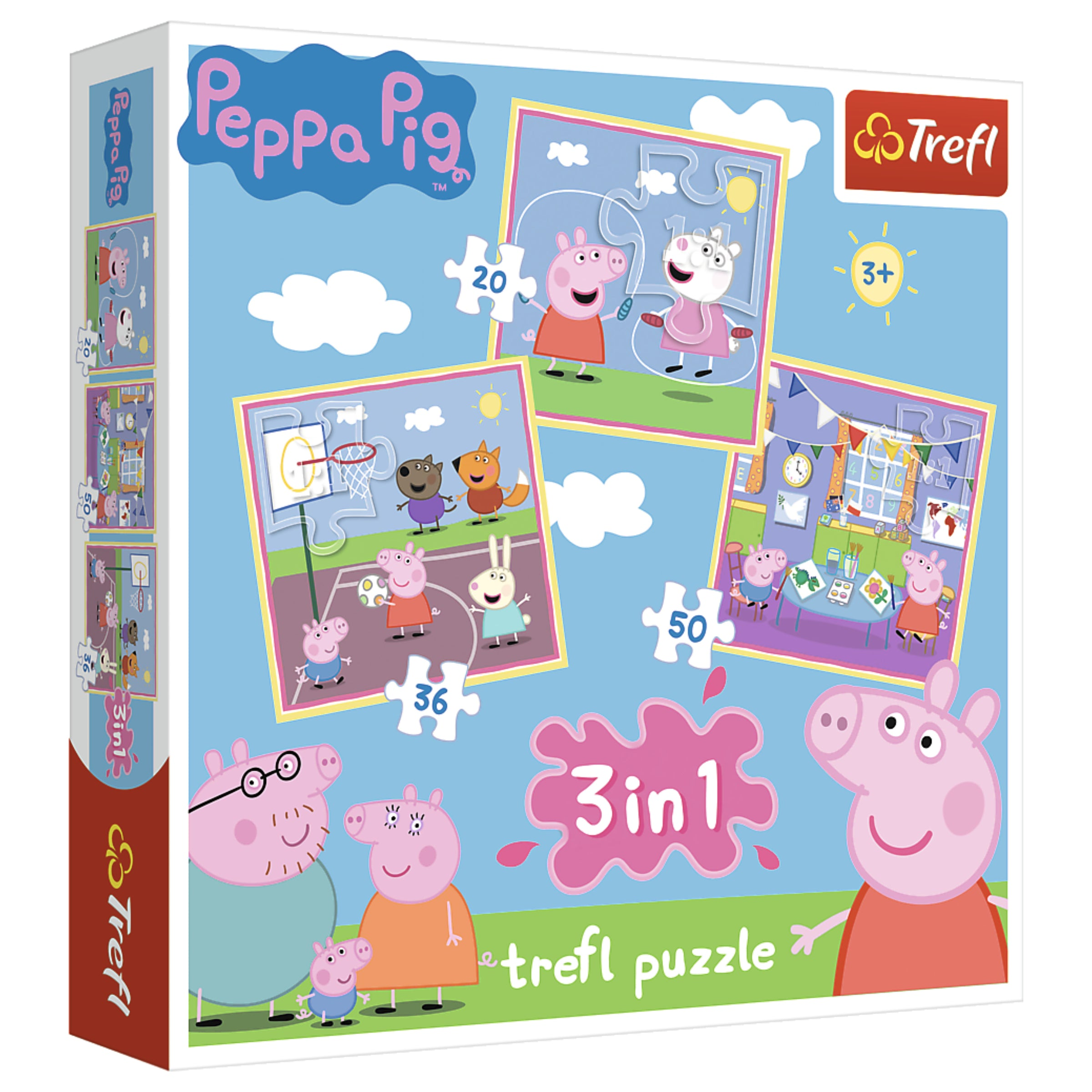 Peppa Pig - 3 in 1 Jigsaw