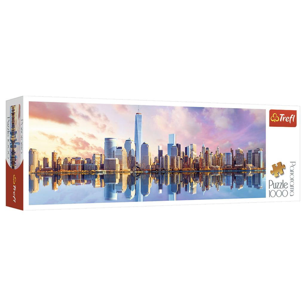 Manhattan, New York - Panorama - 1,000 Piece Jigsaw Puzzle