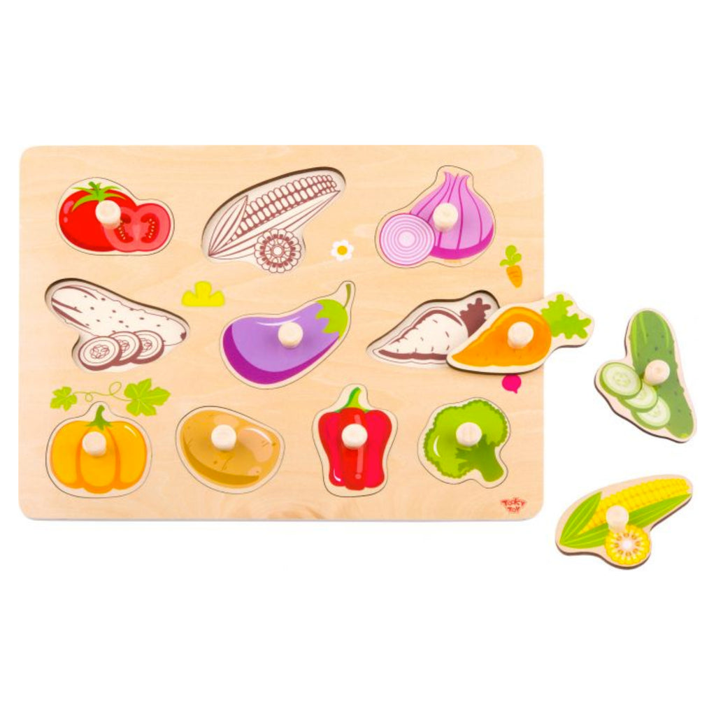 Wooden Baby & Toddler Vegetable Jigsaw Puzzle