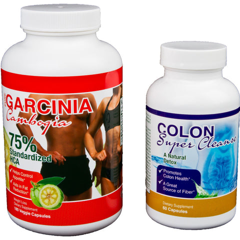 Garcinia Cambogia 75% & Colon Super Cleanse Combo