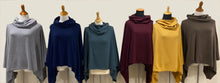 Load image into Gallery viewer, Italian Cashmere Cowl Poncho in Chianti