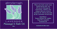 Glendarragh Lavender Massage Oil
