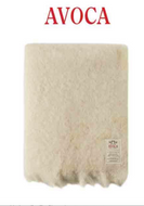 Irish Mohair Throw in Winter White