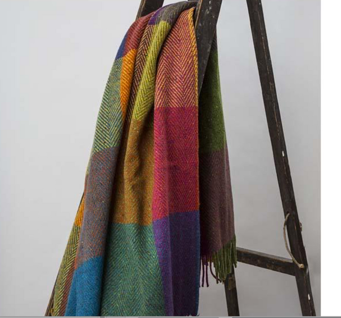 Irish Woolen Throw in Heathers
