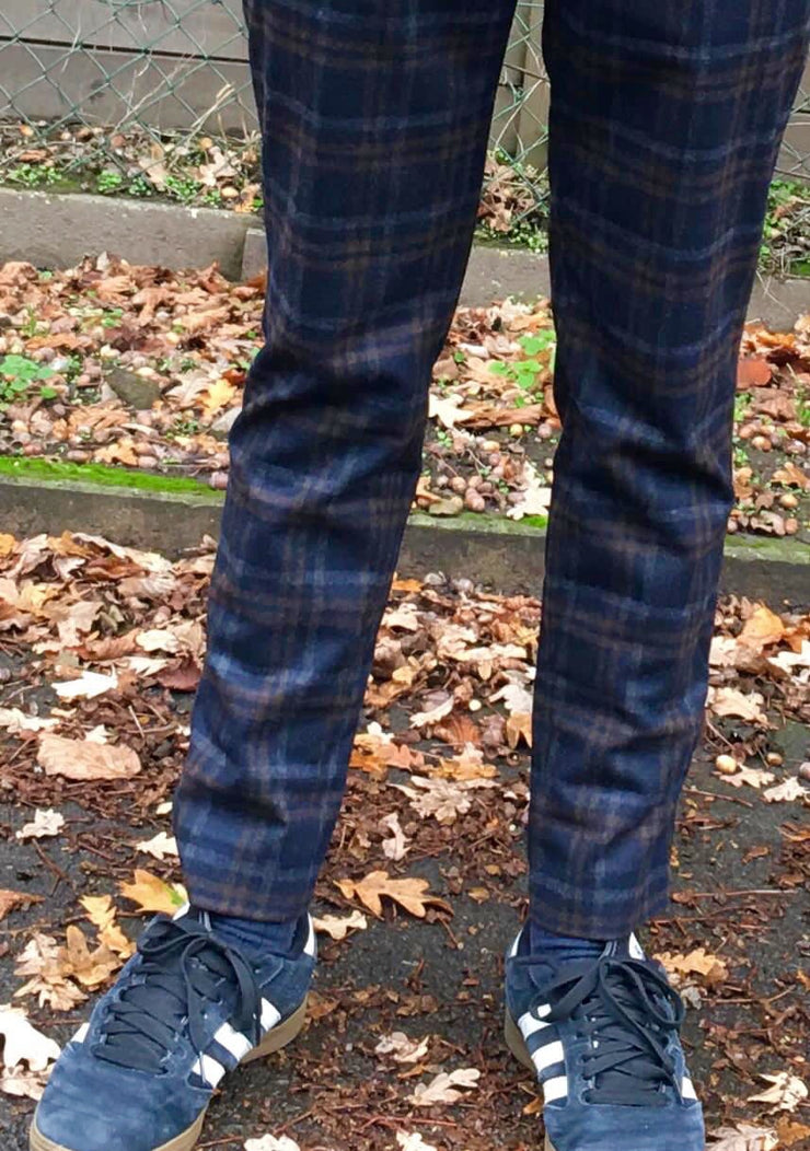 Alberto Slim Fit Rob Checks (M)