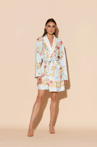 Blue Butterfly Short Robe