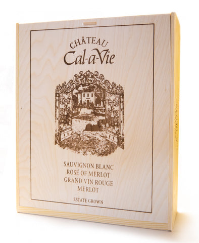 Chateau Cal-a-Vie 3-Bottle Wine Box