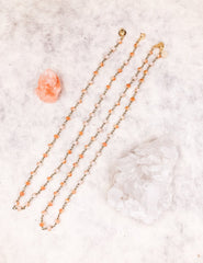 Face Mask Chain (Gold/Apricot)