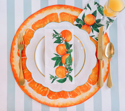 Hester & Cook Orange Slice Placemat (12 count)