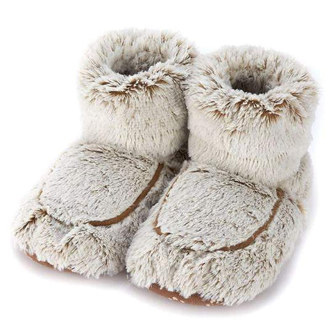 Warmies Microwavable Marshmallow Brown Boots