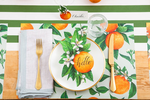 Hester & Cook Orange Orchard Placemat (24 count)
