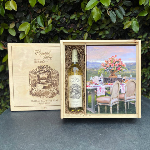 Beautiful Living Cookbook & Wine Gift Set