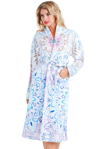 Wrap Up Purple Rain Long Robe