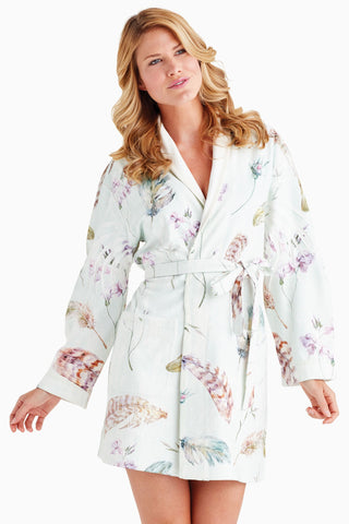 Soft Feathers Short Robe