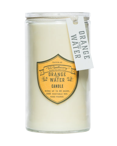 Orange Water Natural Wax Candle