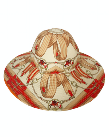 "Rani Arabella Printed Hat ""Stirrups"""