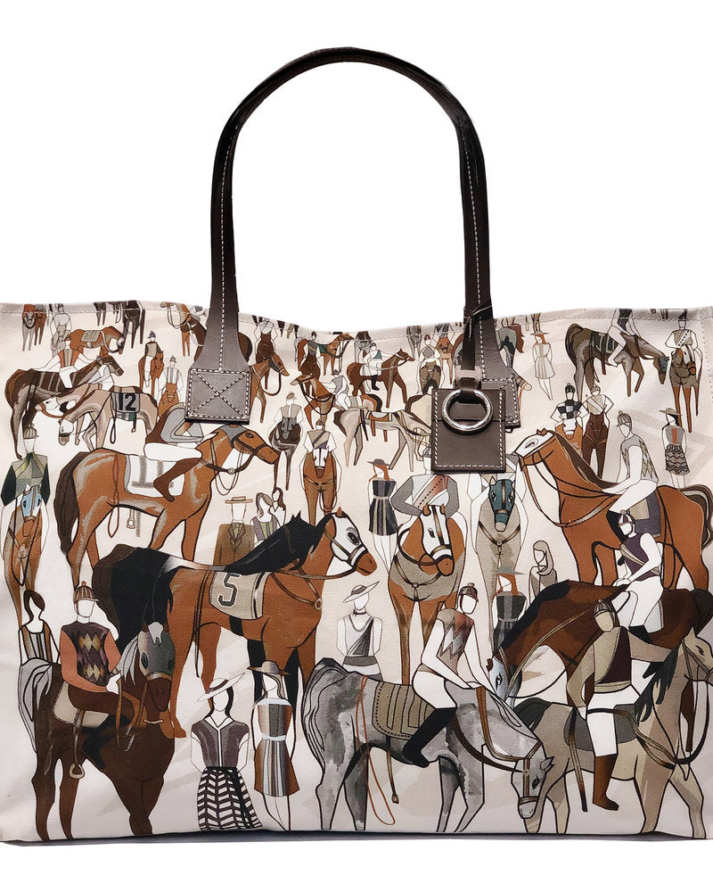 "Rani Arabella Printed Canvas Bag ""After the Race"""